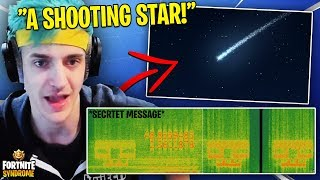 NINJA SPOTS A SHOOTING STAR *SEASON 5* | SECRET AUDIO MESSAGE - Fortnite Moments #134