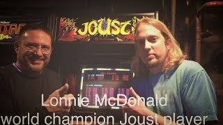 Joust World Record holder Lonnie MDonald - Joust roll at Brewer's Arcade! 4.10.2016