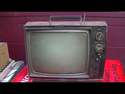 1970 Admiral Black and White Portable TV Repair