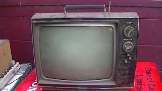 1970 Admiral Black and White Portable TV Repair