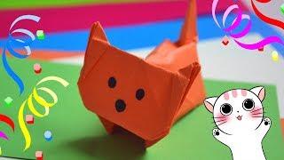 Котёнок оригами | Как сделать оригами котенка из бумаги | Origami cat