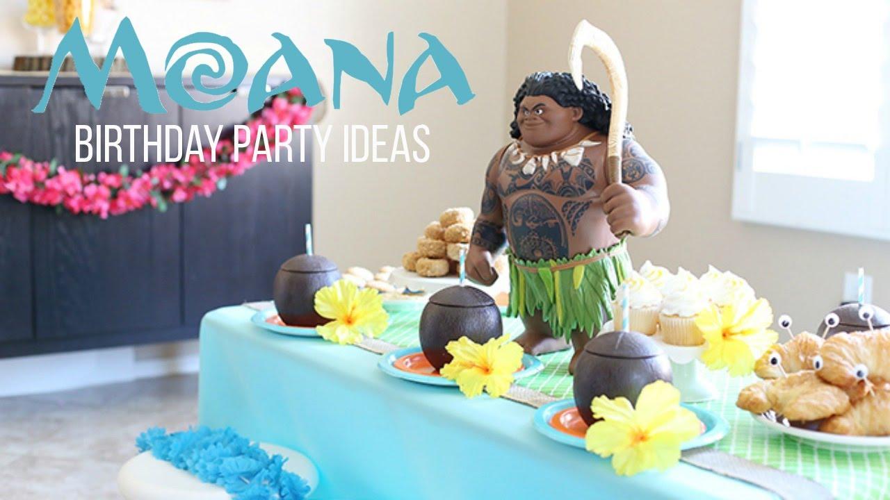 Disney Moana Birthday Party Youtube