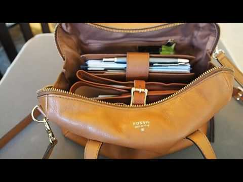 What's in my Bag (Fossil Sydney Satchel...