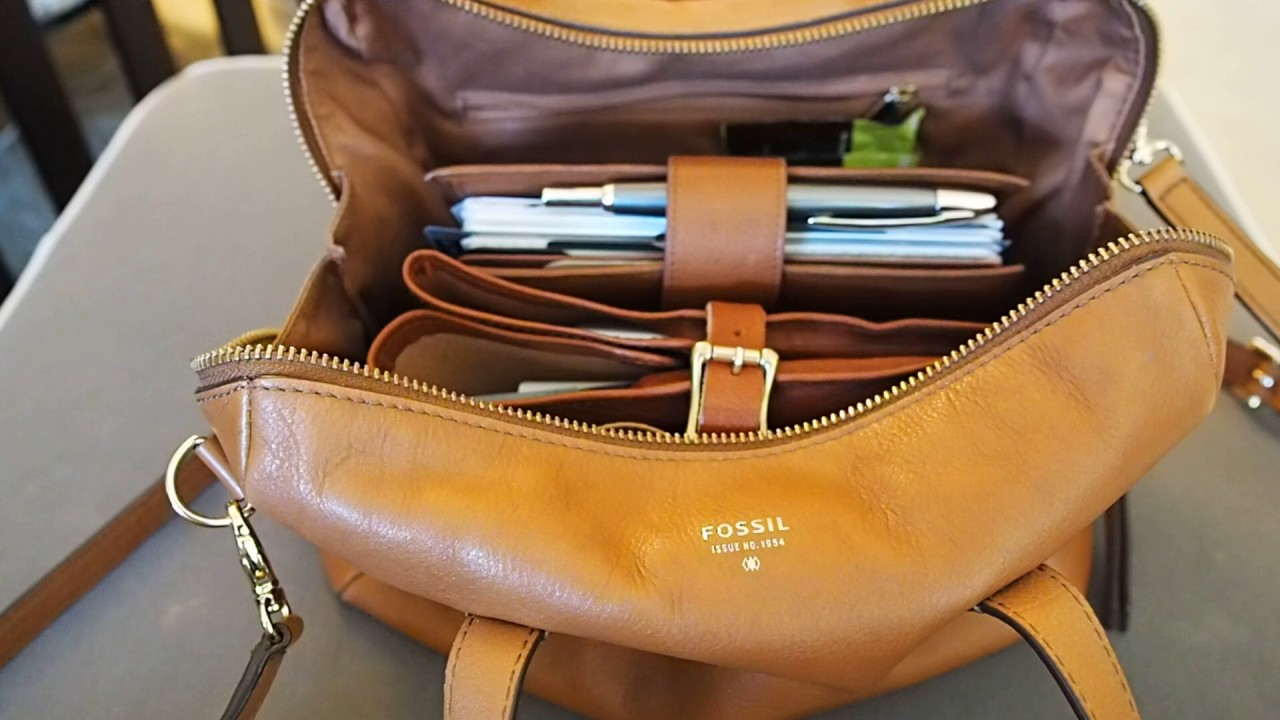 What S In My Bag Fossil Sydney Satchel Camel