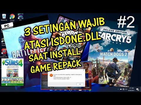 Cara Atasi Isdone Dll Error Unarc.dll Saat Install Game Repack