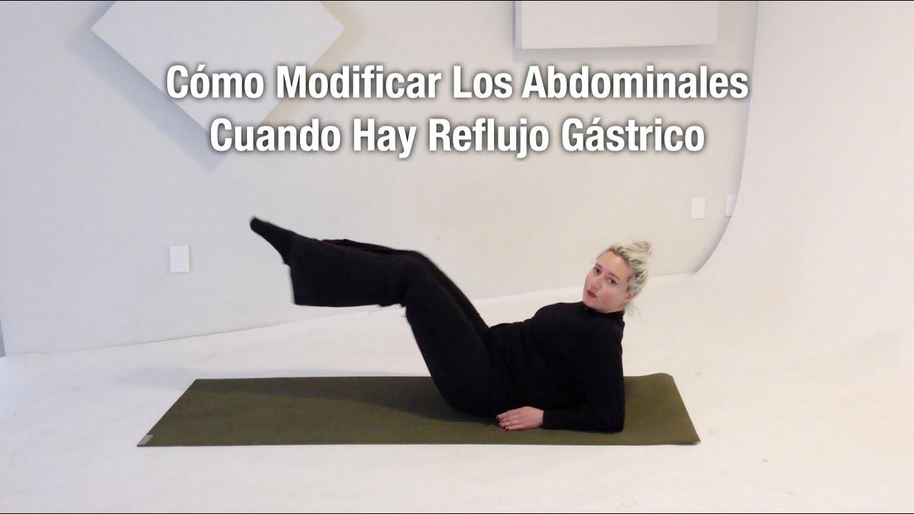 que ejercicios hacer para evitar el reflujo gastroesofagico