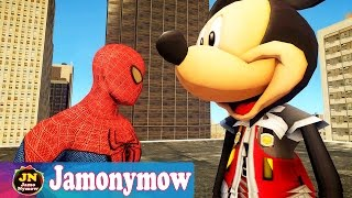 Spiderman vs Mickey Mouse