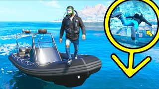 I FOUND A TREASURE IN THE MIDDLE OF THE OCEAN!! (GTA 5 Mods Gameplay)