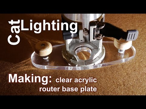 Making acrylic router
