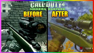 TOP 5 INSANE CHANGES IN CALL OF DUTY 4 REMASTERED! Differences COD 4  Multiplayer (5 Changes COD 4)
