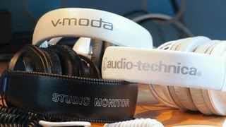 VModa M100 vs. Audio Technica ATH M50 vs. Sony MDR 7506 (Over Ear Headphone Comparison & Review)