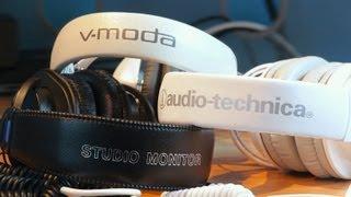 vmoda m100 vs audio technica ath m50 vs sony mdr 7506 over ear headphone comparison review