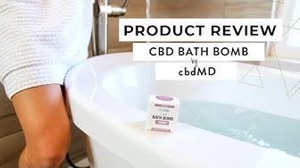 We took a CBD bath! 🛁💧 Review of the CBD Bath Bomb from cbdMD