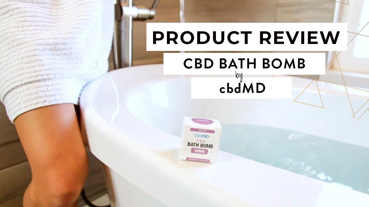 We took a CBD bath! ?? Review of the CBD Bath Bomb from cbdMD