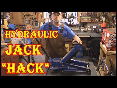 HOW TO FIX A JACK THAT WON'T STAY UP  - TRY THIS  HACK