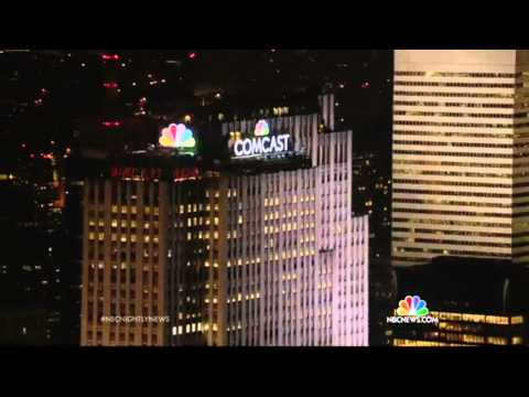 NBC Nightly News: NBC Peacock Lights Up NYC Skyline
