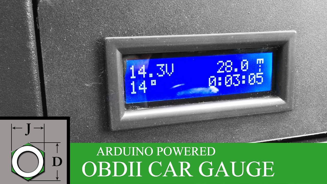 ELM327 + Arduino = Awesome DIY Car Gauge