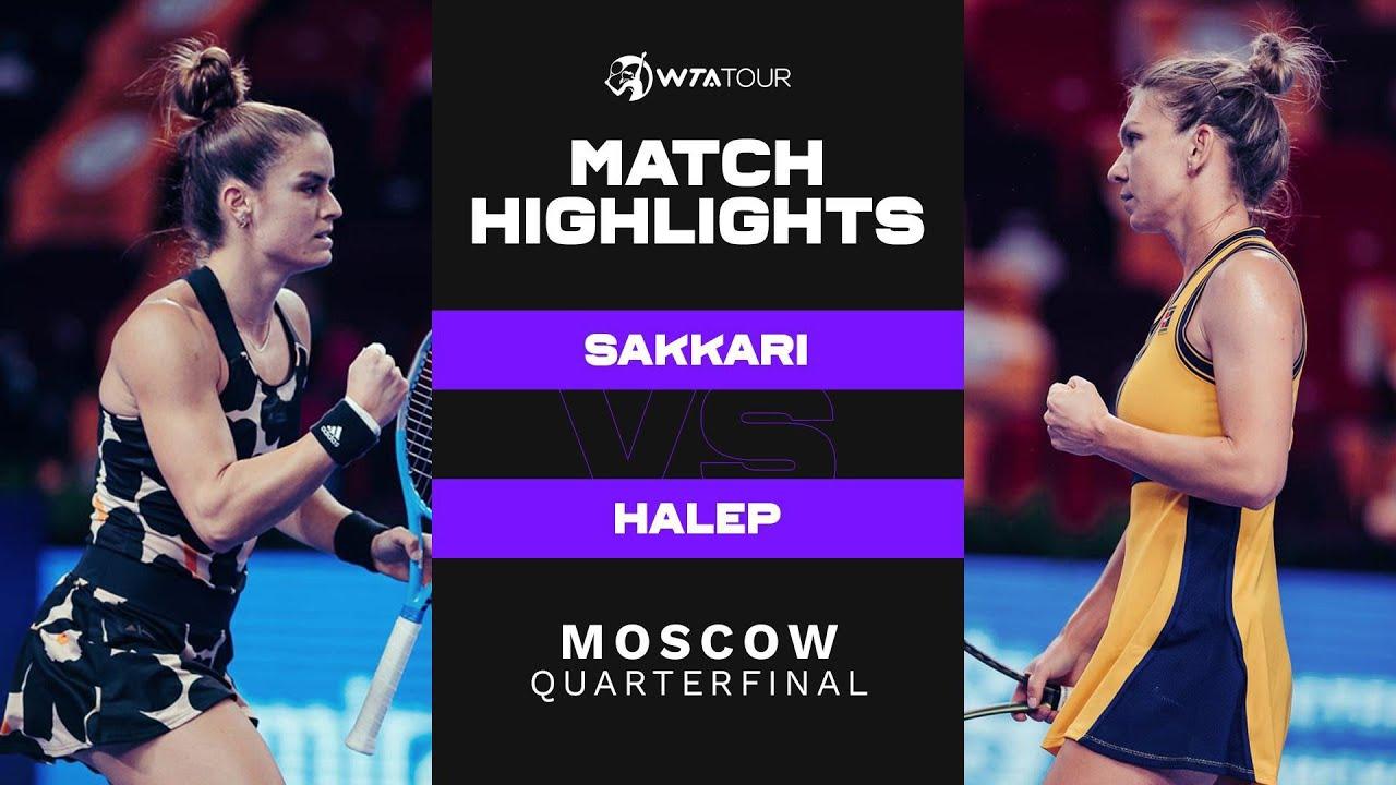 Download Maria Sakkari vs. Simona Halep | 2021 Moscow Quarterfinal | WTA Match Highlights