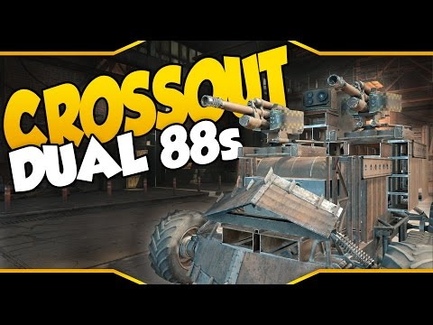 Crossout ➤ Dual 88mm Sniping Terror & Flying Rocket Car [Let's Play Crossout Gameplay]