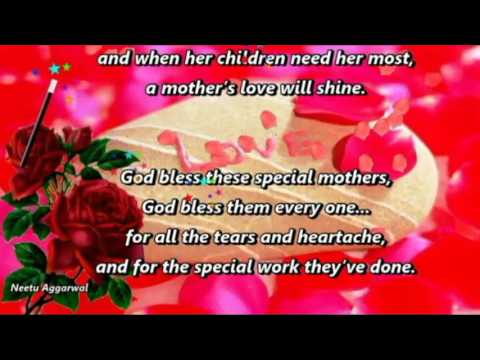 A Beautiful Poem For Mother ''Thank God For Mother's Love''