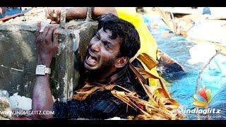 vishal gets hurt during aambala shoot   hansika ramya krishnan sundar c