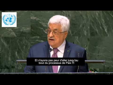 Mahmoud Abbas devant l'Onu : la guerre avec Israël est terminée