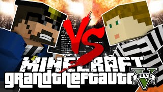 Minecraft GTA V | Cops vs Robber Challenge