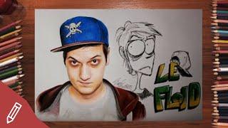 Drawing LeFloid / Florian Mundt - REALISTIC PORTRAIT With COLORED PENCILS | Time Lapse