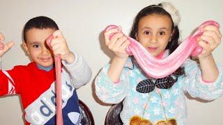 مريومة وحمودي يصنعوا سلايم عملاق !!