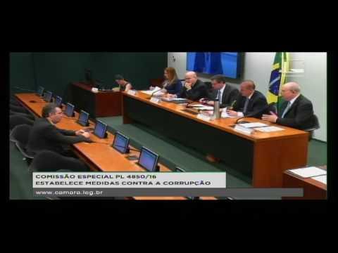 PL 4850/16 - ESTABELECE MEDIDAS CONTRA A CORRUPÇÃO - Reunião Deliberativa - 14/09/2016 - 09:42