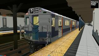 Openbve (5) Lexington Avenue thru express to Drye Ave from Flatbush avenue using SMEE R-12 mixed