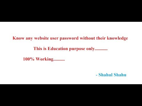 know any website user password | Education purpose | 100% working