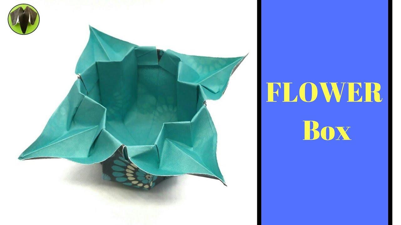 Flower box for womens day diy origami tutorial 891 youtube flower box for womens day diy origami tutorial 891 mightylinksfo