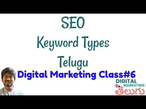 SEO Keyword Types   SEO Keyword Research in Telugu   Digital Marketing Free Video Course Class 6