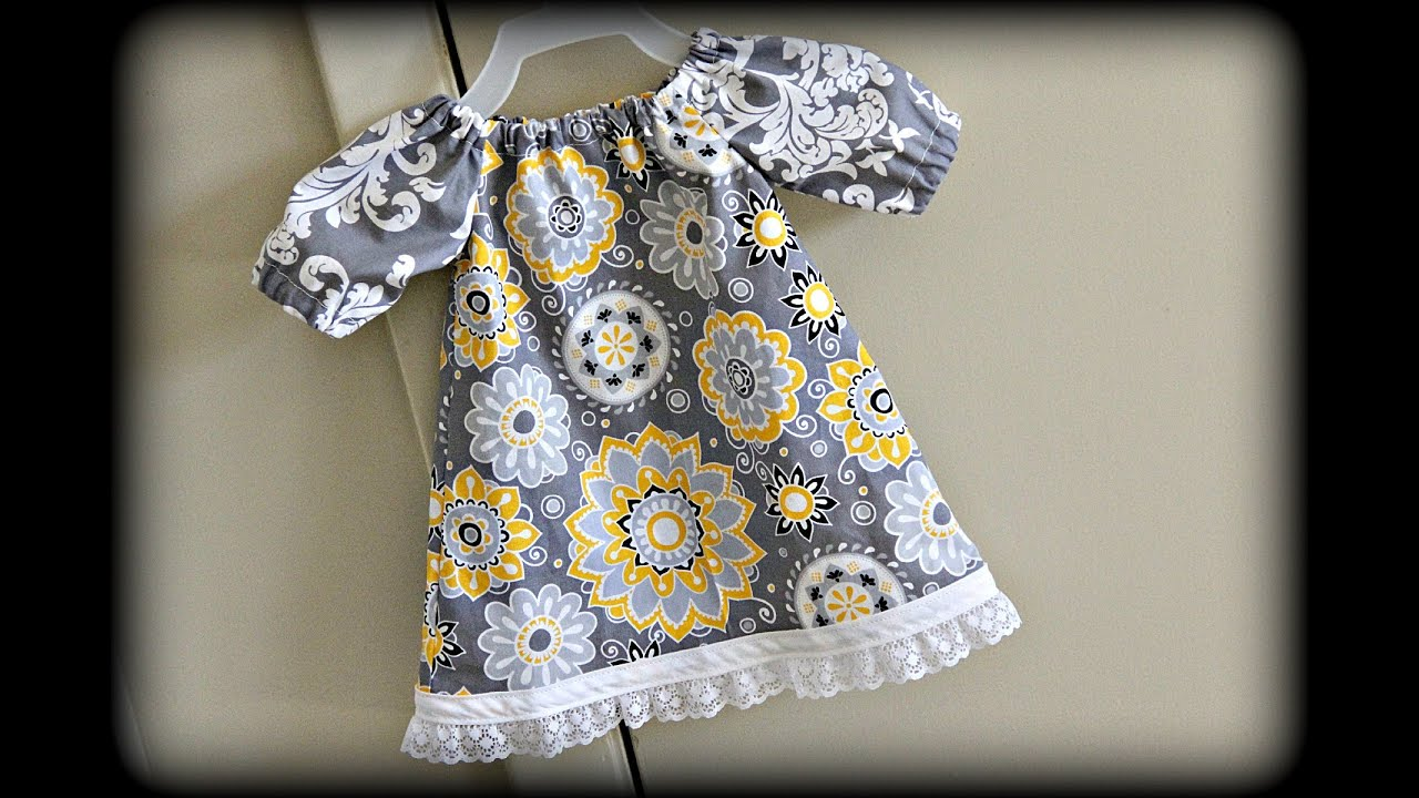 b1dab098e3a7 Baby Dress (Sewing For Beginners) - YouTube