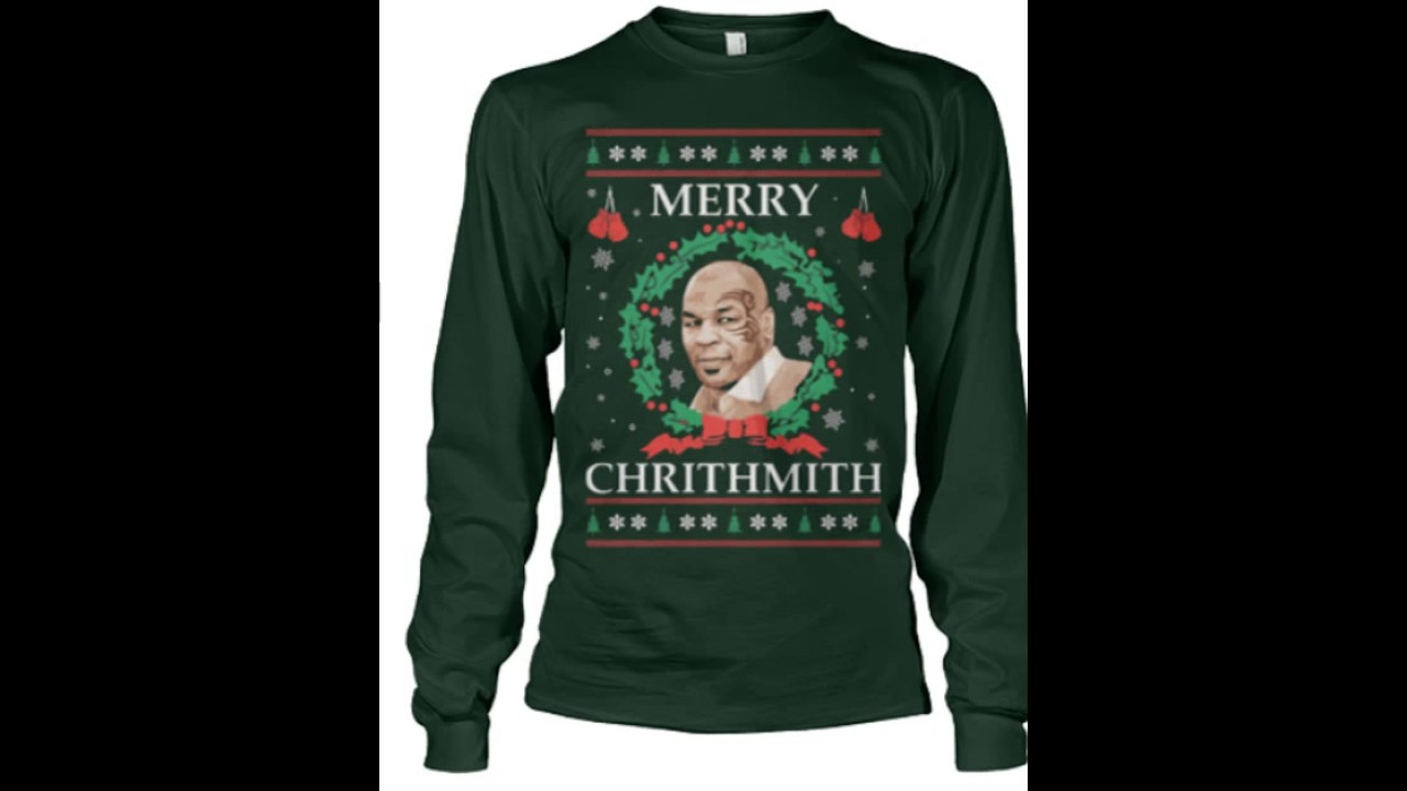 mike tyson merry christmas merry chrithmith sweater