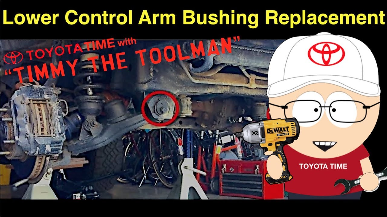 Toyota Auris 2016 >> Lower Control Arm Bushing Replacement - YouTube