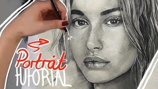 Porträt zeichnen mit Bleistift - Schritt für Schritt || einfach Zeichnen lernen #10