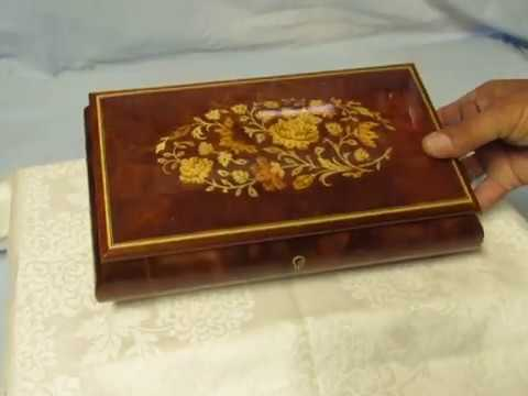 Vintage Reuge Musical Jewelry box from Music Box Maker plays Fur Elise by Beethoven