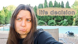 making a huge life decision... | ELA BOBAK