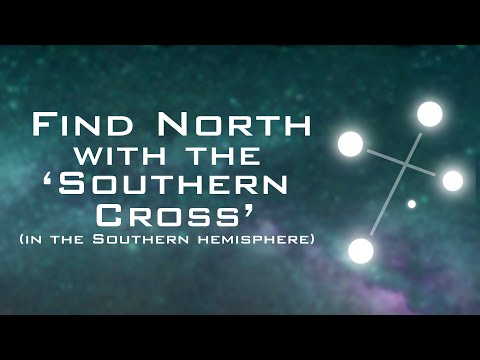 how to find north using the southern cross