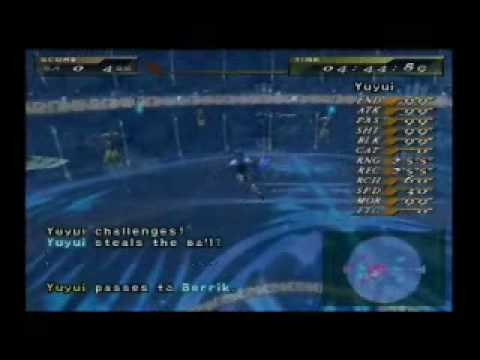Final Fantasy X-2  – My Blitzball Team (In Action)