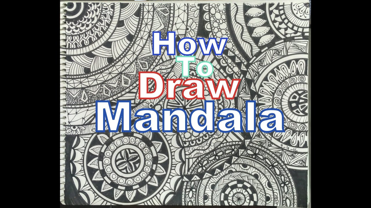 How To Draw Mandala Art For Beginners Drawing Tutorial Step By Step
