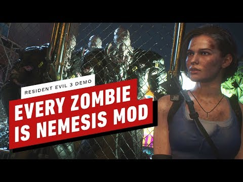 Resident Evil 3 Demo - Every Zombie Is Nemesis Mod