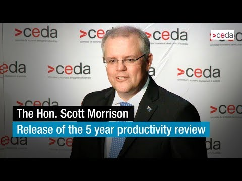 The Hon. Scott Morrison - Release of the 5 year productivity review