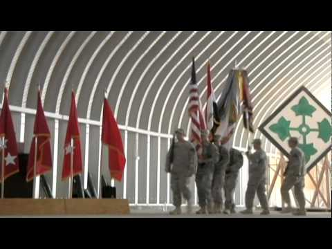 4th Infantry Division, Task Force Ironhorse Casing Their Colors In Iraq