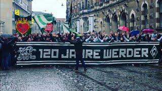 Great corteo and tifos werder bremen fans / 120 jahre werder bremen | SVW -  FCA 10.02.2019