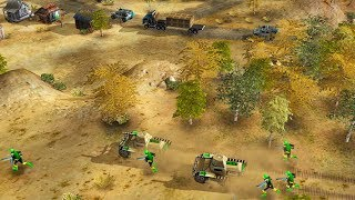 US Military Convoy Ambushed, Cargo Plane Shot Down | Command & Conquer Generals Gameplay