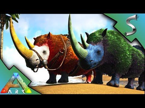 ARK WOOLY RHINO MUTATIONS! BREEDING FOR MUTANT RHINOS! - Ark: Mutation Factory