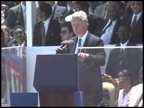 President Clinton at Arrival in Port-au-Prince, Haiti (1995)